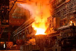 plant for the production of iron and steel
